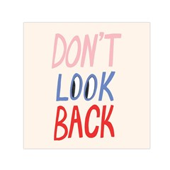 Don t Look Back Big Eye Pink Red Blue Sexy Small Satin Scarf (Square)