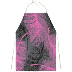Feathers Quill Pink Grey Full Print Aprons