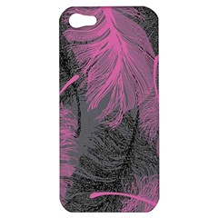 Feathers Quill Pink Grey Apple iPhone 5 Hardshell Case