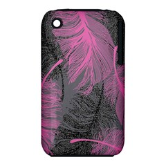 Feathers Quill Pink Grey iPhone 3S/3GS