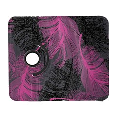 Feathers Quill Pink Grey Galaxy S3 (Flip/Folio)