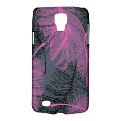 Feathers Quill Pink Grey Galaxy S4 Active