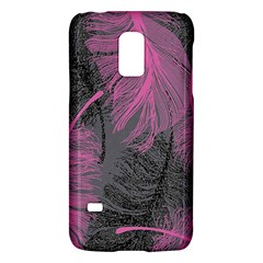 Feathers Quill Pink Grey Galaxy S5 Mini