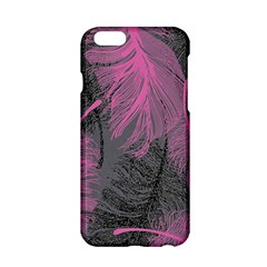 Feathers Quill Pink Grey Apple iPhone 6/6S Hardshell Case