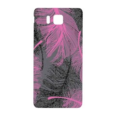 Feathers Quill Pink Grey Samsung Galaxy Alpha Hardshell Back Case