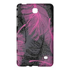Feathers Quill Pink Grey Samsung Galaxy Tab 4 (8 ) Hardshell Case