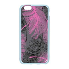 Feathers Quill Pink Grey Apple Seamless iPhone 6/6S Case (Color)