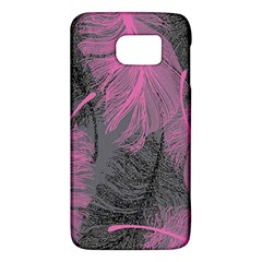 Feathers Quill Pink Grey Galaxy S6