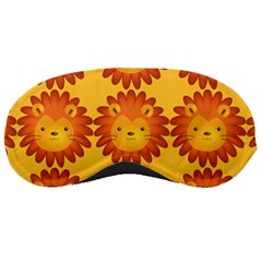 Cute Lion Face Orange Yellow Animals Sleeping Masks