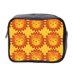 Cute Lion Face Orange Yellow Animals Mini Toiletries Bag 2-Side