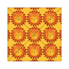 Cute Lion Face Orange Yellow Animals Acrylic Tangram Puzzle (6  x 6 )