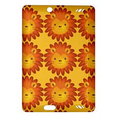 Cute Lion Face Orange Yellow Animals Amazon Kindle Fire HD (2013) Hardshell Case