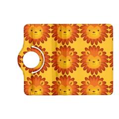 Cute Lion Face Orange Yellow Animals Kindle Fire HD (2013) Flip 360 Case