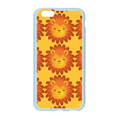Cute Lion Face Orange Yellow Animals Apple Seamless iPhone 6/6S Case (Color)