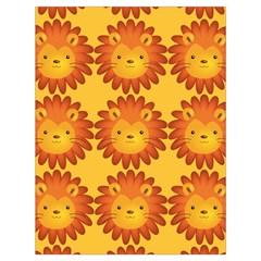 Cute Lion Face Orange Yellow Animals Drawstring Bag (Large)