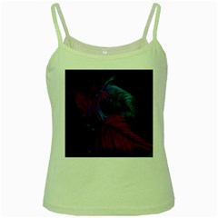 Feathers Quill Pink Black Blue Green Spaghetti Tank