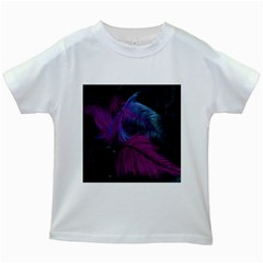 Feathers Quill Pink Black Blue Kids White T-Shirts