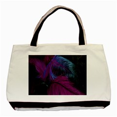 Feathers Quill Pink Black Blue Basic Tote Bag (Two Sides)