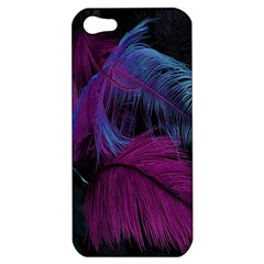 Feathers Quill Pink Black Blue Apple iPhone 5 Hardshell Case