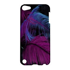 Feathers Quill Pink Black Blue Apple iPod Touch 5 Hardshell Case