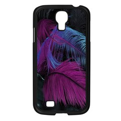 Feathers Quill Pink Black Blue Samsung Galaxy S4 I9500/ I9505 Case (Black)