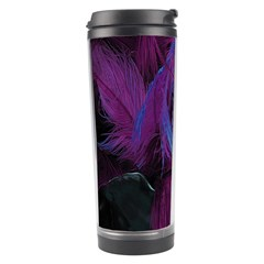 Feathers Quill Pink Black Blue Travel Tumbler