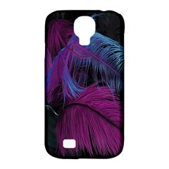 Feathers Quill Pink Black Blue Samsung Galaxy S4 Classic Hardshell Case (PC+Silicone)