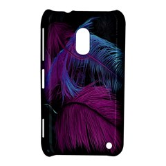 Feathers Quill Pink Black Blue Nokia Lumia 620