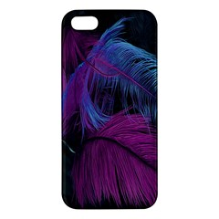 Feathers Quill Pink Black Blue iPhone 5S/ SE Premium Hardshell Case