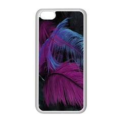 Feathers Quill Pink Black Blue Apple iPhone 5C Seamless Case (White)