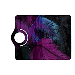Feathers Quill Pink Black Blue Kindle Fire HD (2013) Flip 360 Case