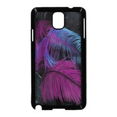 Feathers Quill Pink Black Blue Samsung Galaxy Note 3 Neo Hardshell Case (Black)