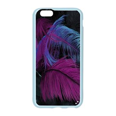 Feathers Quill Pink Black Blue Apple Seamless iPhone 6/6S Case (Color)