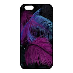 Feathers Quill Pink Black Blue iPhone 6/6S TPU Case