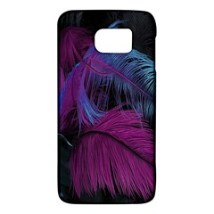 Feathers Quill Pink Black Blue Galaxy S6