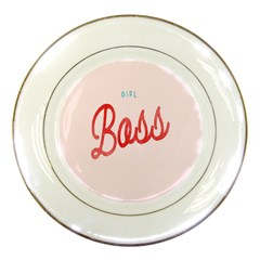 Girl Boss Pink Red Blue Sexy Porcelain Plates