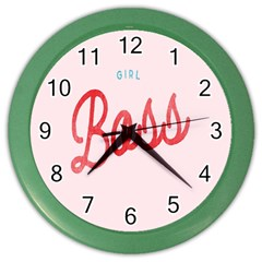 Girl Boss Pink Red Blue Sexy Color Wall Clocks