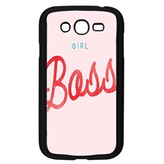 Girl Boss Pink Red Blue Sexy Samsung Galaxy Grand DUOS I9082 Case (Black)
