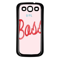 Girl Boss Pink Red Blue Sexy Samsung Galaxy S3 Back Case (black)