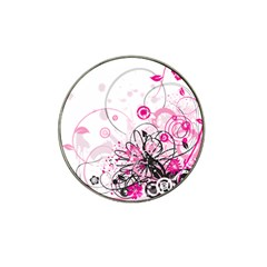 Wreaths Frame Flower Floral Pink Black Hat Clip Ball Marker (10 pack)