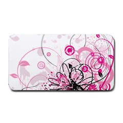 Wreaths Frame Flower Floral Pink Black Medium Bar Mats