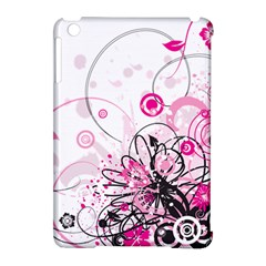 Wreaths Frame Flower Floral Pink Black Apple iPad Mini Hardshell Case (Compatible with Smart Cover)