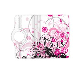 Wreaths Frame Flower Floral Pink Black Kindle Fire HD (2013) Flip 360 Case