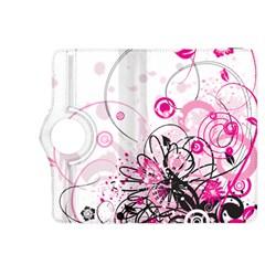 Wreaths Frame Flower Floral Pink Black Kindle Fire HDX 8.9  Flip 360 Case