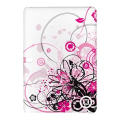 Wreaths Frame Flower Floral Pink Black Samsung Galaxy Tab Pro 12.2 Hardshell Case