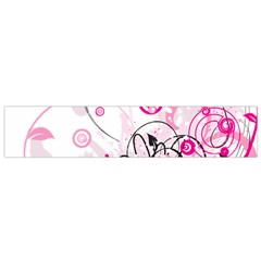Wreaths Frame Flower Floral Pink Black Flano Scarf (Small)