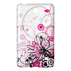 Wreaths Frame Flower Floral Pink Black Samsung Galaxy Tab 4 (7 ) Hardshell Case