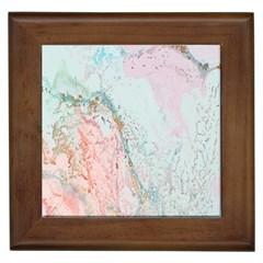 Geode Crystal Pink Blue Framed Tiles