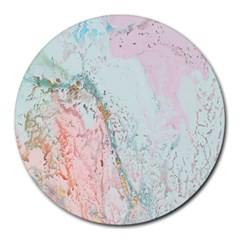 Geode Crystal Pink Blue Round Mousepads