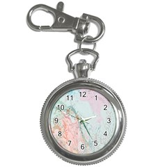 Geode Crystal Pink Blue Key Chain Watches